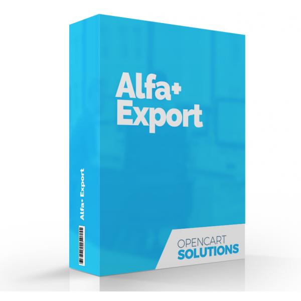 Export objednávok pre Alfa+ | OC 1.5.x